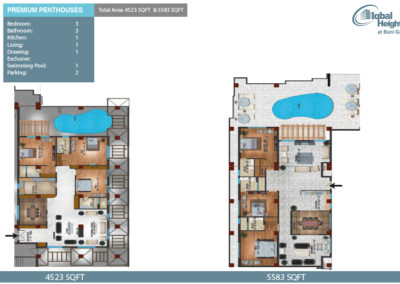 Penthouses 3bedroom apartment