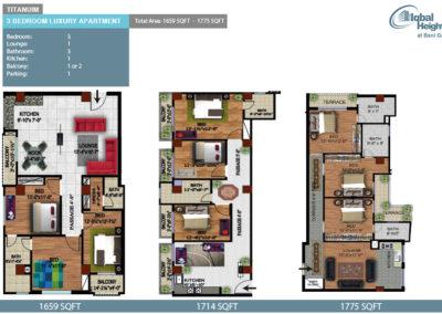 Titanum 3bedroom apartment